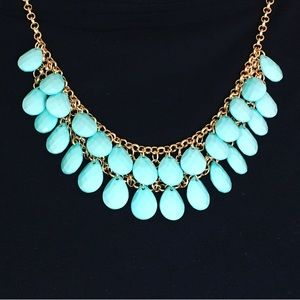 Jewelry - Teal teardrops necklace